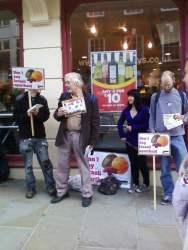 """Boycot Israeli Goods"" Demo outside Sainsbury's, Guildford High Street"